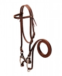 Weaver Leather Browband Bridle with Single Cheek Buckle