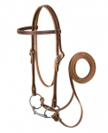 Weaver Leather Browband Bridle with Double Cheek Buckles