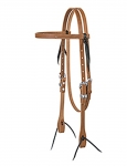 Weaver Leather Browband Headstall - Card Suit 5/8""