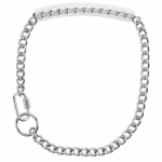 Weaver Leather Chain Goat Collar with Rubber Grip