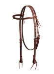 Weaver Leather Deluxe Latigo Leather Browband Headstall, Burgundy