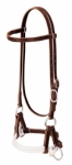 Weaver Leather Deluxe Latigo Leather Side Pull, Double Rope