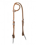 Weaver Leather Flat Sliding Ear Headstall, Card Suit