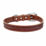 "Weaver Leather Hand Tooled 1"" Dog Collar"
