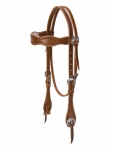 Weaver Leather Hand Tooled Browband Headstall with Sunburst Border