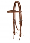 Weaver Leather Hand Tooled Browband Headstall with Navajo Border