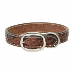 "Weaver Leather Hand Tooled Dog Collar 11"" to 17"""