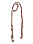 Weaver Leather Hand Tooled Flat Sliding Ear Headstall with Sunburst