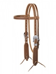 Weaver Leather Hand Tooled Native Design Browband Headstall