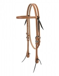 "Weaver Leather Harness Leather Browband Headstall, 5/8"", Polka Dot"