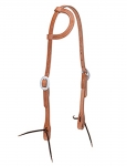 Weaver Leather Harness Leather Flat Sliding Ear Headstall