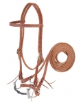 Weaver Leather Harness Leather Training Bridle