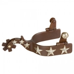 Weaver Leather Men's Show Spurs with Hand-Engraved German Silver Stars