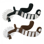 Weaver Leather Men's Spur with Engraved German Silver Trim