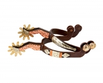 Weaver Leather Men's Spurs with Engraved German Silver and Copper Trim