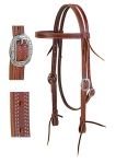 Weaver Leather ProTack Burgundy Latigo Leather Browband Headstall