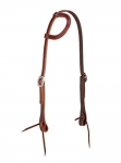 Weaver Leather ProTack Burgundy Latigo Leather Flat Sliding Ear Headstall