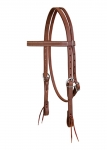 Weaver Leather ProTack Oiled Browband Headstall, 3/4""