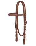 "Weaver Leather ProTack Oiled Browband Headstall, 5/8"" with Buckle Ends"