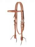 Weaver Leather Russet Harness Leather Browband Headstall, Floral