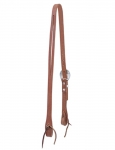 Weaver Leather Russet Harness Leather Flat Split Ear Headstall, Floral