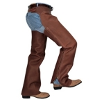 Weaver Leather Shotgun Full Grain Leather Work Chaps