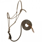 WEAVER LEATHER Silvertip #95 Rope Halter with 12' Lead, Large