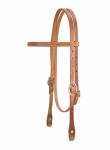Weaver Leather Single-Ply Browband Headstall, Horse
