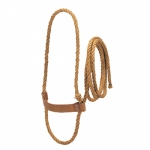 Weaver Leather Sisal Rope Cow Halter with Harness Leather Noseband