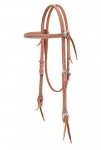 Weaver Leather Stockman Browband Headstall with Spots, Russet