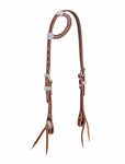 Weaver Leather Stockman Flat Sliding Ear Headstall with Spots, Sunset
