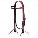 Weaver Leather Straight Browband Headstall, Burgundy Latigo