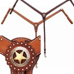 Weaver Leather Texas Star Tapered Ring-in-Center Breast Collar