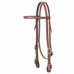 "Weaver Leather Working Cowboy 5/8"" Browband Headstall w/ Buckle Bit Ends FREE SHIPPING"