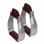 Weaver LeatherAluminum Visalia Stirrups with Engraved Band