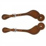 Weaver LeatherHand Tooled Spur Straps, Regular, Heart Border