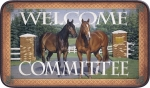 Welcome Committe Horse Mat