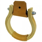 Western Oxbow Stirrups w/LeatherTread