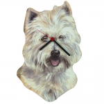 Westie Head Shaped Clock
