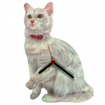 White Cat Shaped Clock