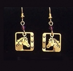 Wild Bryde American Mustang Horse Earrings