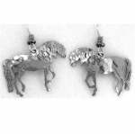 Wild Bryde Andalusian Horse Earrings