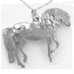 Wild Bryde Andalusian Horse Necklace