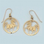 Wild Bryde Arabian Horse Circle Earrings