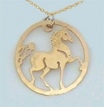 Wild Bryde Arabian Horse Circle Necklace