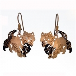 Wild Bryde Cairn Terrier Dog Earrings