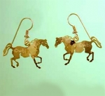 Wild Bryde Cantering Horse Earrings