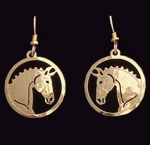 Wild Bryde Dressage Horse Earrings