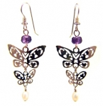 Wild Bryde Fluttering Hearts Butterfly Earrings