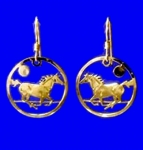 Wild Bryde Galloping Mustang Horse Earrings